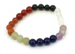 Chakra Stones 003 Round Bead Stretch Bracelet - 8mm