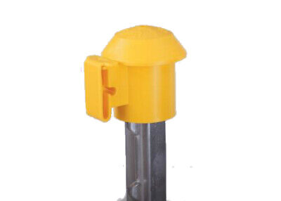 Dare 2027 T-post Topr Safety Top Electric Fence Insulator Yellow 10-pack