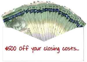 SAVE $500 off your closing costs when buying or refinaning!!!