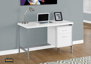 NEW ★ COMPUTER DESK ★ SILVER METAL ★ Can Deliver