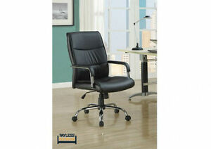 NEW ★OFFICE CHAIR ★ BLACK LEATHERETTE ★ Can Deliver