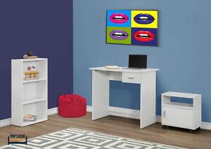 NEW ★ 3 Pcs COMPUTER DESK + BOOKCASE + CART ★ Can Deliver