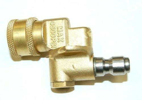 """85.300.172 BE PRESSURE SUPPLY INC. 1/4"""" PIVOT COUPLER, 90 DEGREES, 3 POSITIONS"""