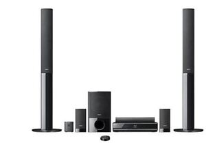 Sony 5.1 Home Theater and Blu-ray System, wireless rear speakers