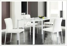 Modern White Metal Frame and Glass Top Dining Table - New in Box Concord West Canada Bay Area Preview