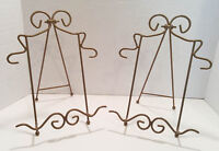 Two Metal Plate Stands