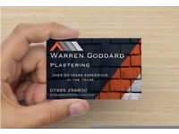 Experienced Plasterer seeking work in Wallingford / Didcot area - available immediately!