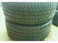 2 X NEW UNUSED MICHELIN ALPIN 255 40 19 WINTER TYRES BMW AUDI MERCEDES FOR ALLOY WHEELS