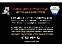 CCTV AND ALARM SYSTEMS FITTED