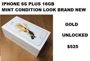 IPHONE 6S PLUS 16GB  UNLOCKED GOLD MINT CONDITION LOOK BRAND NEW