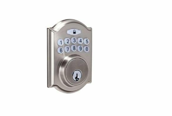 Single Cylinder Satin Nickel Castle Electronic Entry Keypad