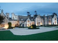 2 nights stay Cotswold, Cheltenham, 3 course meal + drinks, Spa, country wear hire