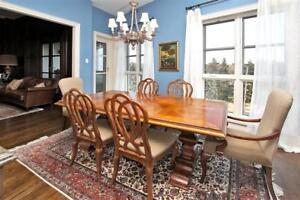 High-end solid wood Dining table with 8 chairs