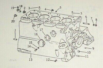 John Deere 219 Series Power Unit Engine Parts Catalog Manual Book Original 380