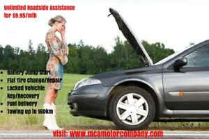 Battery Boost, Flat Tire Assistance, Lock Outs Etc - $9.95/month