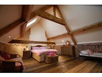 Large Double Room in Barn Conversion Suit Professional