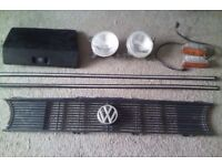 JOB LOT VOLKSWAGEN VW GOLF MK1 GTI PARTS HELLA FOG LIGHTS GRILL INDICATORS TRIMS GLOVEBOX TP8-FIZ009
