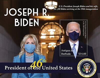 Antigua 2021 - President and First Lady Joe and Jill Biden - Souvenir Sheet MNH