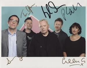 New Order (Band) Fully Signed Photo Genuine In Person Peter Hook Bernard Sumner