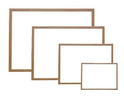 Wood Framed Magnetic Dry Erase Sign Whiteboard White Board 12 X 18 Neoplex