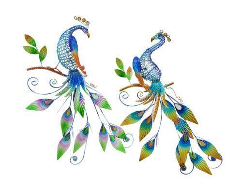 Metal peacock wall art ebay for Peacock wall art