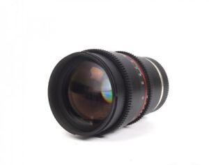 10/10 Samyang/Rokinon 85mm T1.5 E mount Cine Lens Sony