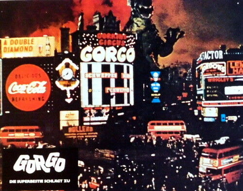 Godzilla GORGO lobby card set 20 original vintage stills R1973