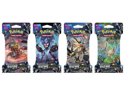 POKEMON TCG Sun & Moon Ultra Prism Blister 4 packs all together as shown
