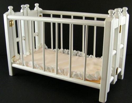 Wood Doll Crib Ebay