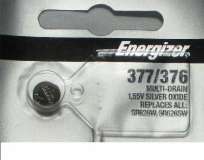 376 Energizer Watch Batteries - One Pc Fresh ENERGIZER Silver Oxide WATCH Battery 1.55v CR376 CR377 CR 376 377
