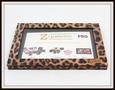Z PALETTE PRO Leopard Metal Sticker CUSTOMIZABLE MAKEUP ORGANIZER New Authentic , used for sale  New York