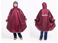 Raincoat (burgundy colour, one size)