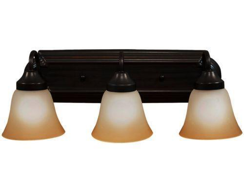 Oil rubbed bronze bathroom light fixture ebay - Brushed bronze bathroom light fixtures ...