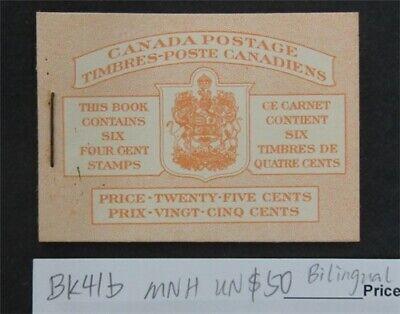 nystamps Canada Stamp # BK41b Mint OG NH UN$50 Bilingual   L16y3176