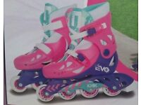 Evo Inline Adjustable Skates For Girls - Size 13J - 3 NEW & BOXED