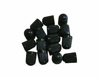 100 BLACK PLASTIC TIRE VALVE STEM CAPS ()