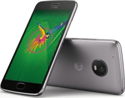 Motorola XT1687 Moto G Plus 5th Generation 64 GB Lunar Gray LTE Unlocked