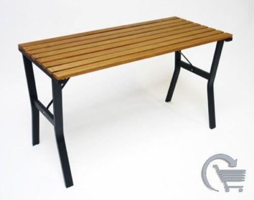 gartentisch holz metall m bel ebay. Black Bedroom Furniture Sets. Home Design Ideas