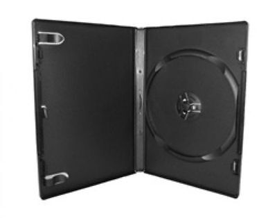 15 Black Dvd Cases New - 14mm Standard Empty Dvd Movie Case - Fast Shipping