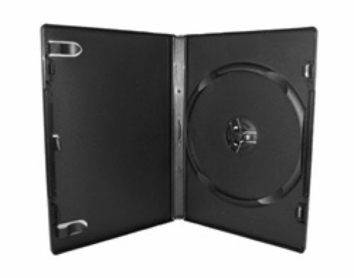 15 - Black DVD Cases (Used) - 14mm Standard Empty DVD Movie Case - Free Shipping