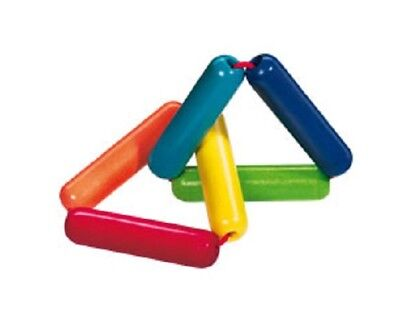 New HABA Triangle Wooden Baby Clutching Toy manipulative rattle teether Germany for sale  Drexel