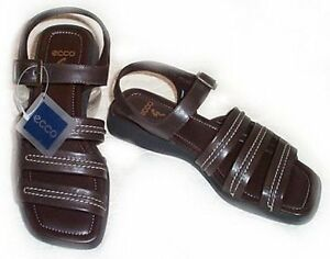 ** NEW ** ECCO Brown Leather Sandals - Size 7 / 7.5 Gatineau Ottawa / Gatineau Area image 1