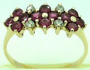 9ct Solid Gold Ruby Rings