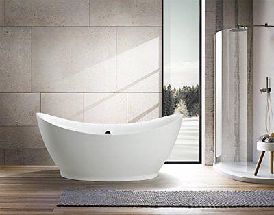 "67"" Vanity Art Bathroom Free Standing Acrylic Soaking Bathtub VA6513"
