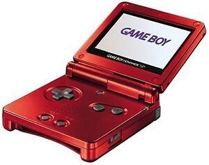 RED GAMEBOY SP WITH GAME FOR SALE