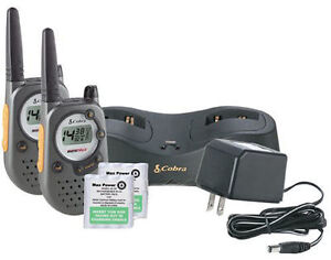 MINT* Cobra FRS235 RadioS with Batteries, Charger, 2 pack