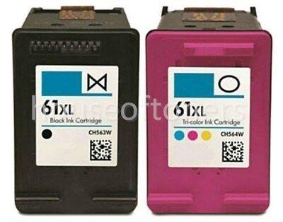 2PK for HP 61 XL Black Color Ink fits HP Deskjet 2540 2541 2542 2543 2544 2545 2