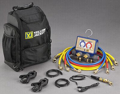 Yellow Jacket 40870 P51-870 Titan Digital Manifold Kit Whoses And Backpack