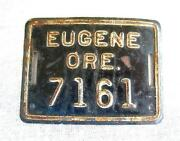 Vintage Bicycle License Plate
