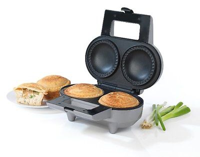 Giles Double Deep Pie Maker Non Stick Extra Thick Beef / Chicken Grey